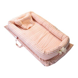 ベビーベッド インベッド 新生児ベッド 双子ベッド ベビーガード 添い寝ベッド ふとんセット 寝返り防止 オムツ換え 枕付き 転落防止 持ち運び 育児グッズ 防寒 3色