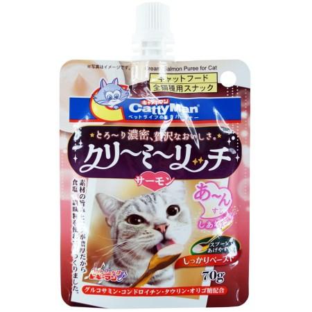 クリーミーリッチサーモン70g【猫のおやつペーストサーモン写真映えカワイイ】