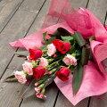 【母の日】カーネーション花束「ハッピーマム」和紙ラッピング