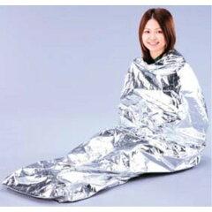 非常時に役立つ軽量な保温アルミシートです。非常用保温アルミシート寝袋型 JTH-1020 シルバー ...