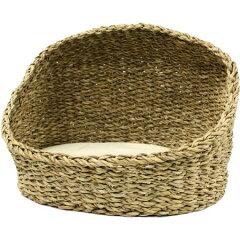 ホグラ草を編んだベッドアジアンベッド ハーフドーム 犬用【10P01Jun14】