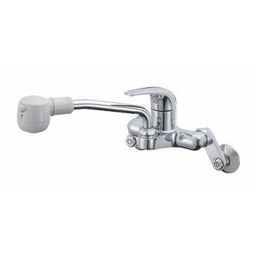 シングル切替シャワ混合栓 K270M【蛇口 混合栓 シングルレバー オールメッキ 節水 上向き シャワー 泡沫 水はね】