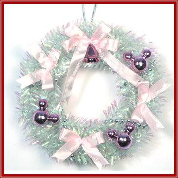 【ポイント10倍 12/4 20:00〜12/11 1:59まで】Xmasディズニー ミニリース ピンク 15cm【東京ローソク製造 X'mas ディズニー クリスマスツリー クリスマス リース】