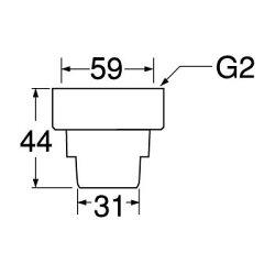 排水ホースユニオンナットPH62-88S-50