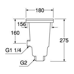 流し排水栓DWH651A