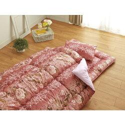 羊毛混掛・敷・まくら3点セット シングル (ガーデン) シングル ピンク
