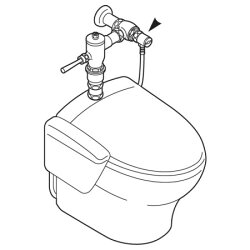 洗浄便座取付アダプターB50-2【三栄水栓SANEIB50-2水道用品トイレ用品便座取付部品】