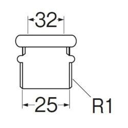 洗浄管アダプターH80-300-32X25【三栄水栓SANEIH80-300-32X25水道用品トイレ用品便器部品】