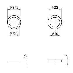 小便器用アジャストパッキンセットH80-6-H6S【三栄水栓SANEIH80-6-H6S水道用品トイレ用品便器部品】