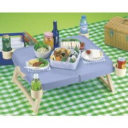 ホルン ハンディーテーブル カップ付 ブルー MP-951