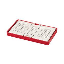 レノン折りたたみランチボックス(仕切付)レッドD-2305【パール金属お弁当ランチお弁当箱ランチボックスサンドイッチ折り畳み】