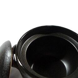 信楽焼ごはん鍋・黒01(大)