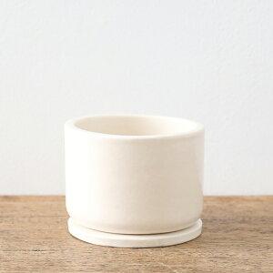 よしおかれいさんの鉢(S2.5号鉢)受皿付き(観葉植物多肉植物植え替えシンプルおしゃれ植木鉢ポット限定別注