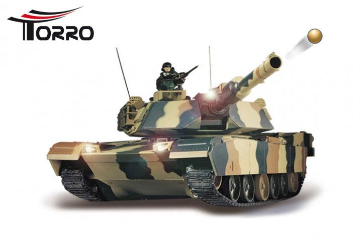 Torro/HengLong 1/24 M1 A2 エイブラムス戦車 (迷彩塗装・ゴムキャタピラ・BB仕様)R / C Tank M1 A2 ABRAMS 1/24 scale1111003816