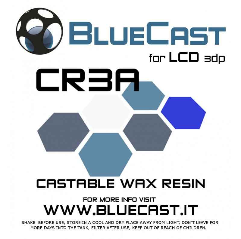 BlueCast Cr3aレジン 光造形LCD 3Dプリンター用 (Wanaho D7、Anycubic 3d、Phrozen Shuffle、Micromake L2、X-Cube、Xayav V (405 nm)) BlueCast Cr3a LCD 0.5 kg画像