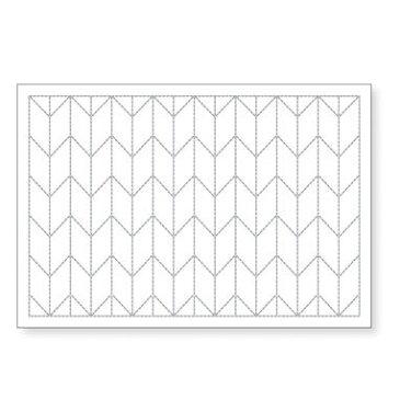 オリムパス 刺し子のランチョンマット L-1002(白) 矢羽根