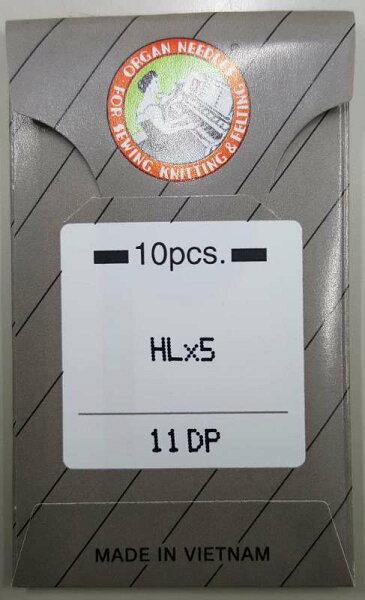オルガン針HLx5(#11-#18)家庭用/職業用(平柄針)ミシン針|高速#14#16