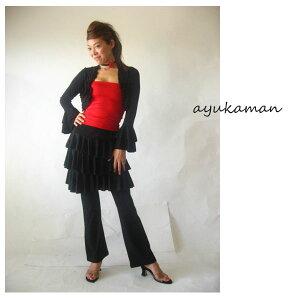 フラメンコ衣装ミニフリルボレロ6964【t20】ボレロtops衣裳Flamenco社交ダンス
