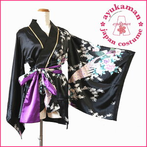 Free Shipping Tomorrow Yosakoi Costume Peacock Pattern Mini Kimono Dress Japanese Pattern Costume Dancing Yosakoi Cosplay Cava Dress [cwa-a1030-purple] 1017 Gold Piping Ruffle Flower Wheel Satin Mini Kimono Dress Satin Japanese Pattern Mini Oiran Kimono Dress Kimono Style Mini Satin