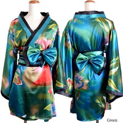 cd8cd8a8ff112 ... 着物ドレス 和風 コスチューム 衣装 0031 M L 着物風ミニ (花) cwa04