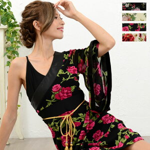 Disfraz de Oiran Cosplay [cwa0678] Vestido de kimono con estampado floral Traje de baile japonés Disfraz de Yosakoi Vestido de cosplay japonés Oiran Vestido de cabaña con mini kimono precioso Oiran Vestido de kaba japonés con estampado japonés Yosakoi Oiran Vestido de kimono Mini vestido