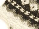 アルパカ純毛100%手編み耳付き帽(mt719・生成り) 2