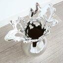 花瓶 モダンテイスト 陶器フラワーベース シルバー/インテリア 壁掛け アート アートパネル リビン ...