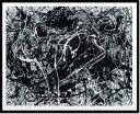 絵画・抽象画 (Silkscreen)(ジャクソン・ポロック ナンバー33,1949(シルクスクリーン))/額入り 額装込 風景画絵画・壁掛けアートは、リビングや玄関におすすめのインテリア。かわいい壁飾りはお部屋を癒やしてくれそう。プレゼントにも。 5Lサイズ