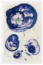絵画・抽象画 (Silkscreen)(サム・フランシス トウキョウ ブルー,1961(シルクスクリーン))/額入り 額装込 風景画絵画・壁掛けアートは、リビングや玄関におすすめのインテリア。かわいい壁飾りはお部屋を癒やしてくれそう。プレゼントにも。 5Lサイズ
