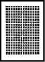 絵画・抽象画 Victor Vasarely Tinko,1955(Silkscreen)(ビクター・バザレリー チンコ、1955(シルクスクリーン))/額入り 絵画 絵 壁掛け アート リビング 玄関 トイレ インテリア かわいい 壁飾り 癒やし プレゼント ギフト アートパネル ポスター 5Lサイズ