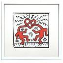 【アートフレーム】キース ヘリング Untitled,1989/インテリア 壁掛け 額入り 額装込 ポスター リビング 玄関 トイレ プレゼント モダン おしゃれ 絵画 飾る Lサイズ