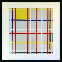 アートフレーム ピエト・モンドリアン ニューヨークシティ3(Piet Mondrian New York City,3)/額入り 絵画 絵 壁掛け アート リビング 玄関 トイレ インテリア かわいい 壁飾り 癒やし プレゼント ギフト アートパネル ポスター アートフレーム おしゃれ LLサイズ