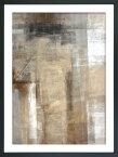 絵画 抽象画 ブラウン アンド ベージュ アブストラクト アート ペイント/額入り 絵画 絵 壁掛け アート リビング 玄関 トイレ インテリア かわいい 壁飾り 癒やし プレゼント ギフト アートパネル ポスター アートフレーム おしゃれ 4Lサイズ