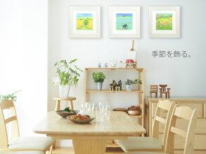 《絵画壁掛け》ひまわり3・Mサイズ〔栗乃木ハルミ・くりのきはるみ〕【送料無料】/絵画・壁掛けアートは、リビングや玄関におすすめのインテリア。かわいい壁飾りはお部屋を癒やしてくれそう。プレゼントにも。【楽フェス_ポイント2倍】