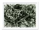 絵画・抽象画 Jackson Pollock ジャクソン ポロック Number 33(ナンバー33)/インテリア 壁掛け 額入り 額装込 風景画 油絵 ポスター アート アートパネル リビング 玄関 プレゼント モダン アートフレーム おしゃれ 飾る 5Lサイズ