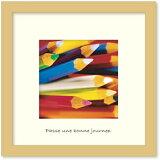 【アートフレーム】【ゆうパケット】FRED フレッド Pencils(ペンシル/鉛筆)/インテリア 壁掛け 額入り 油絵 ポスター アート アートパネル リビング 玄関 プレゼント モダン アートフレーム おしゃれ Sサイズ