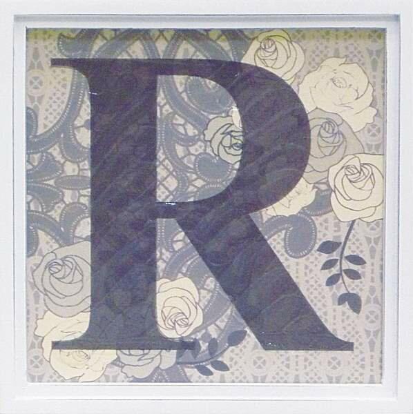アルファベット アートフレーム R/インテリア 壁掛け 額入り 額装込 風景画 油絵 ポスター アート アートパネル リビング 玄関 プレゼント モダン アートフレーム おしゃれ 飾る Sサイズ 巣ごもり