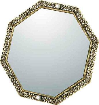 ミラー ゆうパケット ガーリーロザ 8アングル スタンドミラー アンティークゴールド/鏡 壁掛け 卓上 手鏡 鏡台 収納 おしゃれ 美容 お化粧 顔 インテリア 新築祝い 改築祝い Sサイズ