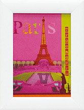 《アートフレーム》パリ・コラージュ ピンク パリス/絵画やアートフォトなど5000点、日本最大級...