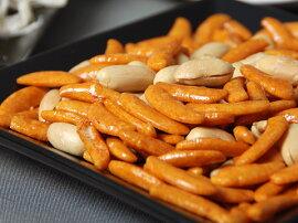 新潟小千谷で作られた二段仕込み醤油を使った柿の種に塩味の利いたピーナツが美味い!05P25Jun09