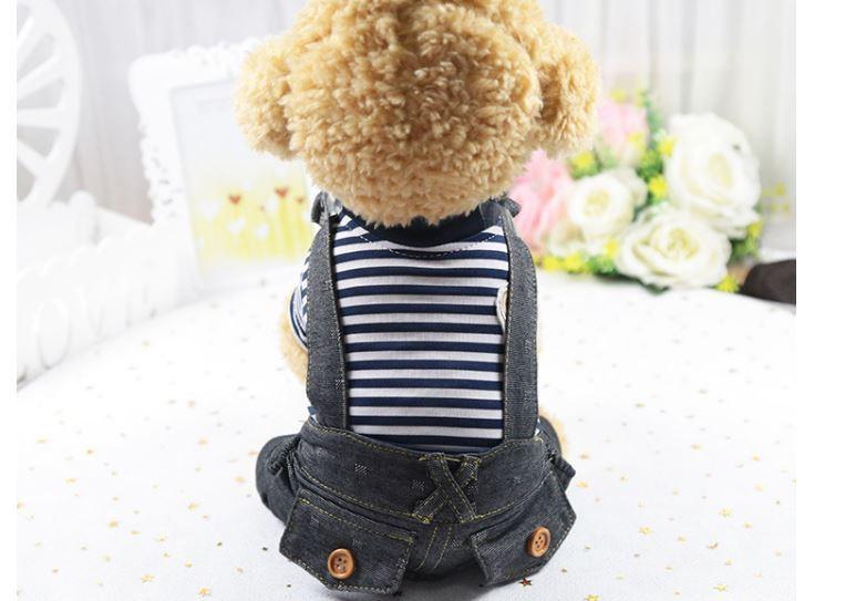 犬服ドッグウエア つなぎ ペット用 ボーター 犬の服 カバー 小型犬 服   おでかけ お部屋着 抜け毛防止トイプードルチワワ ヨーキ