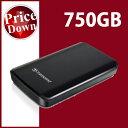 Transcend【トランセンド】 ポータブルハードディスク 750GB StoreJet 25D2 ブラック /TS750GSJ25D2【USB2.0対応】【送料無料】