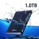 SiliconPower【シリコンパワー】 USB3.0防水対応ポータブルハードディスク1.0TB/SP010TBPHDA80S3B【送料無料】【USB3.0/2.0対応】【Armor A80】