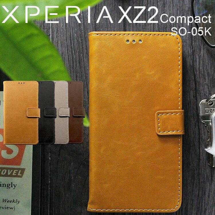 スマートフォン・携帯電話アクセサリー, ケース・カバー XPERIA XZ2 Comapact SONY Compact SO-05K PU (A)