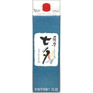 Aged potato shochu Satsuma Tanabata 25 degrees 1800ml paper pack /
