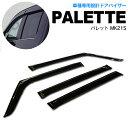 パレット MK21S 20/1〜 スモーク サイドバイザー ドア バイザ...