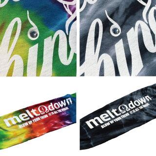 MELTDOWN(メルトダウン)長袖TシャツSCRIPTTIEDYEL/STEE(MD17FW-LS01)メンズファッションヒップホップダンスB系ストリート系通販スクリプトロゴタイダイ