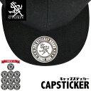 STYLEKEY スタイルキー ステッカー CAP STICKER[10枚セット](SK99-ET002) ストリート系 B系 キャップ 帽子 シール シルバー メタリック ラベル NEWERA ニューエラ