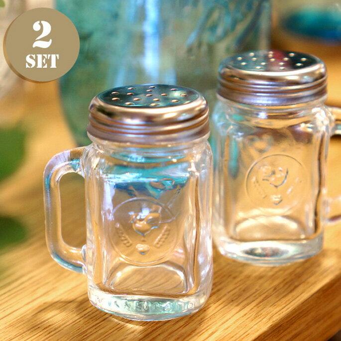 【Ball メイソンジャー】Mason Jar Salt&Pepper Shakers(メイソンジャーソルト&ベッパーシェーカーズ) 2933 /ボール アメリカ Ball社 正規品 ガラス 保存ビン