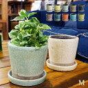 Color glazed pot (カラーグレーズドポット) Mサイズ 植木鉢 DULTON(ダルトン) 全10色の写真
